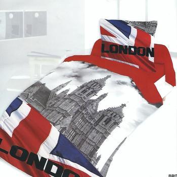 housse de couette 1.40*2m + 1 taie en polyester/coton (tergal) pour lit d'1 personne - britanik