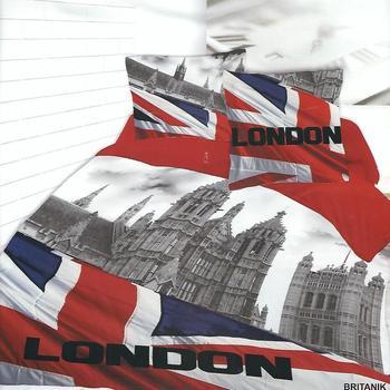 housse de couette 2.4*2.2m + 2 taies en polyester/coton (tergal) pour lit de 2 personnes - britanik