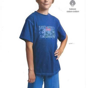 pyjashort coton pour garçons -  santa monica foncé 8 ans 10 ans 12 ans 14 ans 16 ans