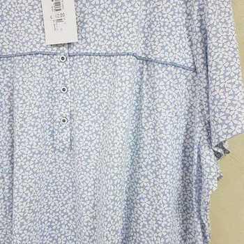 robe de nuit courtes manches en coton jersey pour dame - fabrication belge - sanne 3XL - 4XL