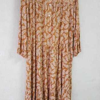 robe extra longues en viscose T 48 - 54 pour dame - ocre