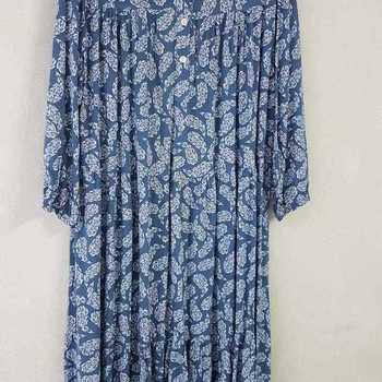 robe extra longues en viscose T 48 - 54 pour dame - bleu jeans
