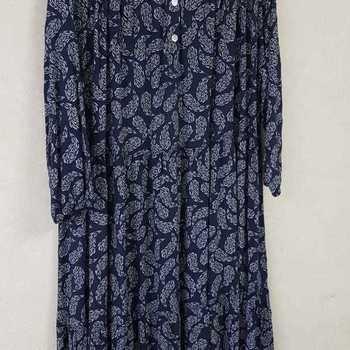 robe extra longues en viscose T 48 - 54 pour dame - marine