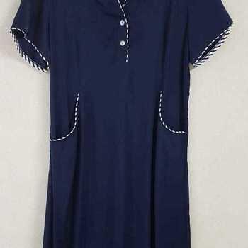 robe courtes manches avec poches pour dame de T42 - 48 - marine