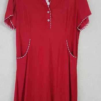 robe avec poches pour dame de T40 à 54 - rouge