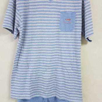pyjashort coton jersey pour homme - V == cruise gris - S - M - L - XL - XXL à partir de