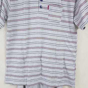 pyjashort coton jersey pour homme - 3 boutons gris chiné == M - L - XL - à partir de