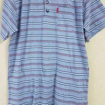 pyjashort coton jersey pour homme - 3 boutons ciel chiné == S - M - L - XL - XXL à partir de