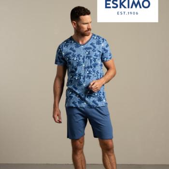 pyjashort coton jersey pour homme - V == cruise bleu - S - M - L - XL - XXL à partir de