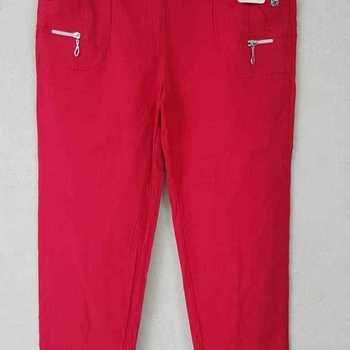 pantalon extra strech pour dame - rouge n° 2 - 4