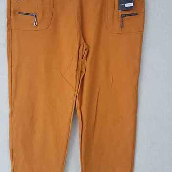 pantalon extra strech pour dame - ocre foncé T 4