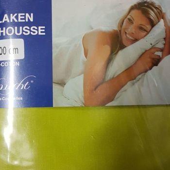 drap housse 100% coton pour lit extra grand 1.80*2m - midnight vert