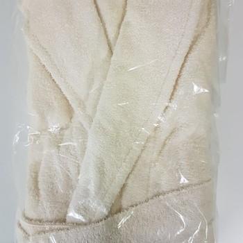 peignoir ou sortie de bain réclame en éponge - unisexe écru bd900 L/XL