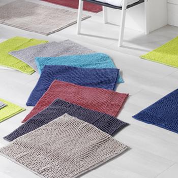 tapis de bain microfibre 50*80cm poptuft en différents coloris