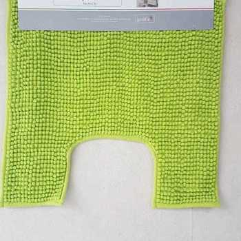 tapis ou contour WC microfibre 50*50cm poptuft - anis