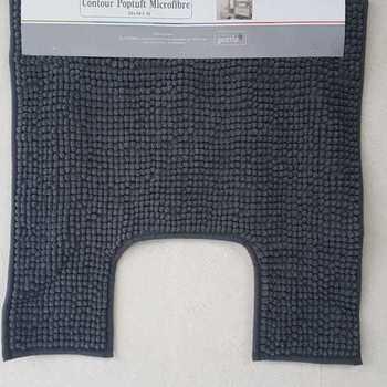 tapis ou contour WC/lavabo microfibre 50*50cm poptuft - gris anthracite