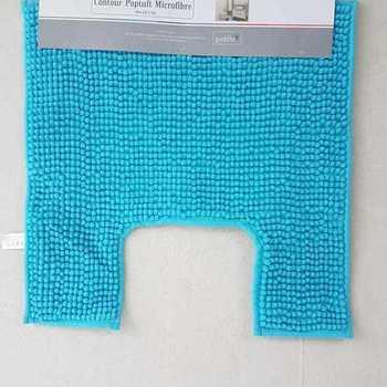 tapis ou contour WC/lavabo microfibre 50*50cm poptuft - turquoise