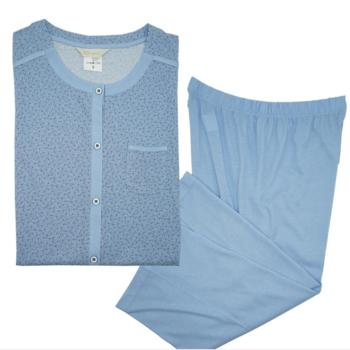 pyjama corsaire coton pour dame - fabrication belge - sacha 3XL - 4XL