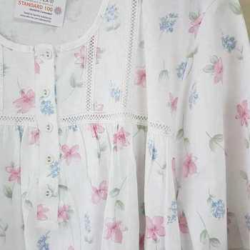 robe de nuit courtes manches coton pour dame - fabrication belge - filet rose 4XL