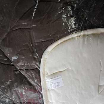 couette bicolore 400g 1.40*2m pour lit d'1 personne - marron/beige