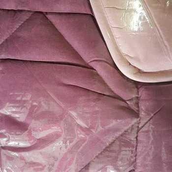 couette bicolore 400g 1.40*2m pour lit d'1 personne - rose