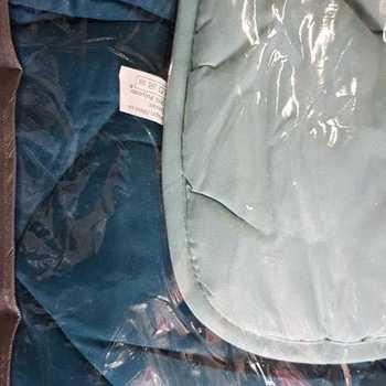 couette bicolore 400g 2.40*2.20m pour lit standard de 2 personnes - bleu