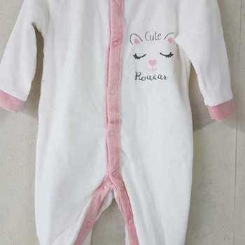 pyjama velours rasé biais écru 0 mois 1 mois 3 mois