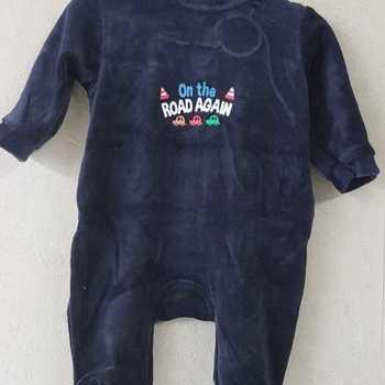 pyjama velours rasé road anthracite 0 mois 1 mois 3 mois