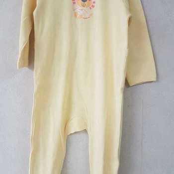 pyjama coton lion jaune 6 mois 9 mois 12 mois 18 mois 24 mois