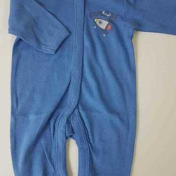 pyjama coton fusée bleu 0 mois 1 mois 3 mois 6 mois