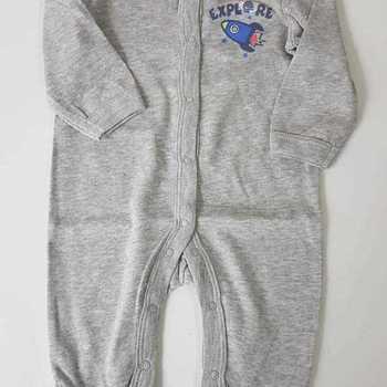 pyjama coton fusée gris 0 mois 1 mois 3 mois 6 mois