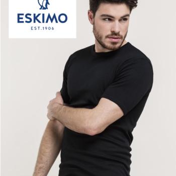 """t-shirt courtes manches """"eskimo"""" antartic noir"""