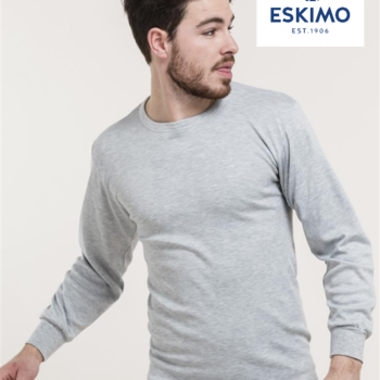 """t-shirt longues manches """"eskimo"""" antartic - gris"""