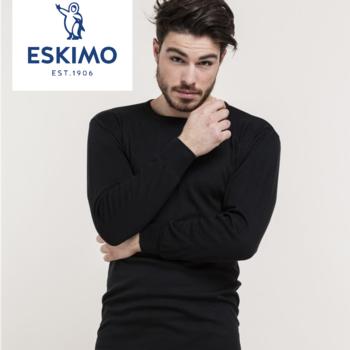 """t-shirt longues manches """"eskimo"""" antartic - noir"""