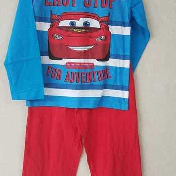 pyjama coton jersey cars rouge 3 ans 4 ans 5 ans 6 ans 7 ans