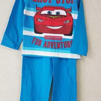 pyjama coton jersey cars bleu 3 ans 4 ans 5 ans 6 ans 7 ans