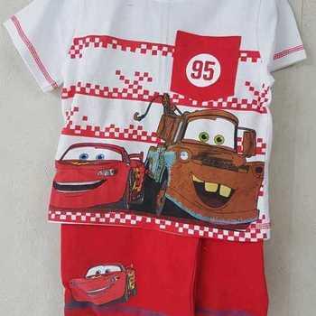 t-shirt + short cars rouge 2 ans 3 ans 4 ans 5 ans 6 ans