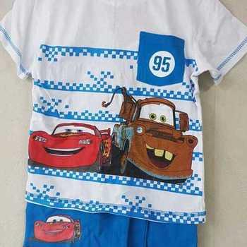 t-shirt + short cars bleu 2 ans 3 ans 4 ans 5 ans 6 ans