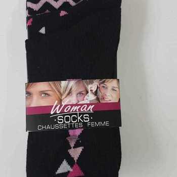 chaussettes avec 73% coton en 36/41 - gris ou noir : 3 paires pour 3.50€