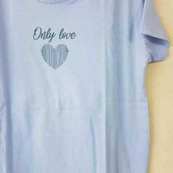 pyjama corsaire coton jersey only love ciel M - L