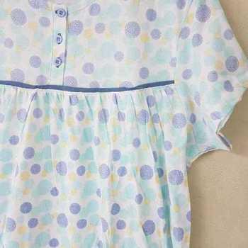 robe de nuit courtes manches coton jersey pour dame - cambier ciel M - L - XL - XXL