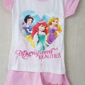 pyjashort coton jersey princesses rose 3 ans 5 ans 6 ans 8 ans