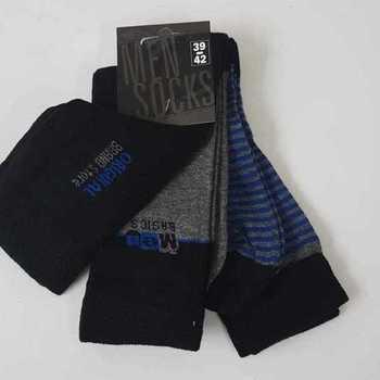 chaussettes avec 76% coton 39/42 43/46 : 3 paires pour 3.50€ avec 1 lignée