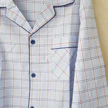 pyjama boutonné coton léger pour homme - ciel M - XL