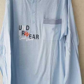 pyjama coton jersey pour homme - underwear ciel M - L - XL - XXL