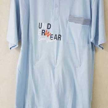 pyjashort coton jersey pour homme - underwear ciel M - L - XL - XXL