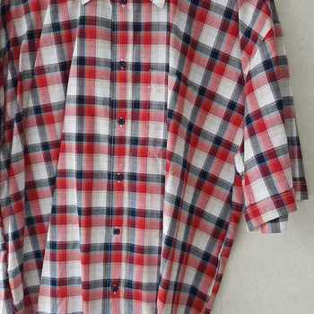 chemise courtes manches carreaux rouge XL/XXL en PROMO