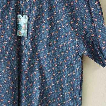 chemise courtes manches flamands rose L - XL - XXL - 3XL