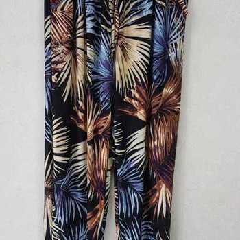 pantalon fluide avec poches pour dame - noir beige