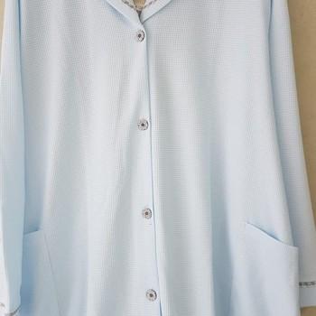 peignoir boutonné léger gaufré pour dame - 4XL - fabrication belge qenna